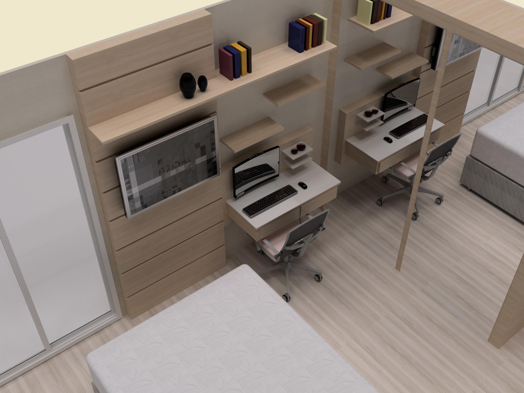 Projeto de Escrivaninha de madeira